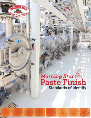morning star Paste Finish Standards Brochure 2019 - Final_Page_1